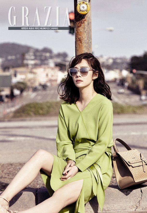 "Actress Kim Hyun Joo Shows Off Her Many Faces with ""Grazia"" Photoshoot   Koogle TV"