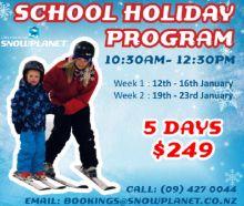 Snowplanet school holiday programmes
