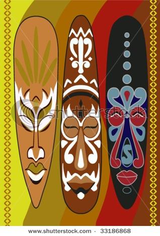 african masks                                                                                                                                                                                 Mais