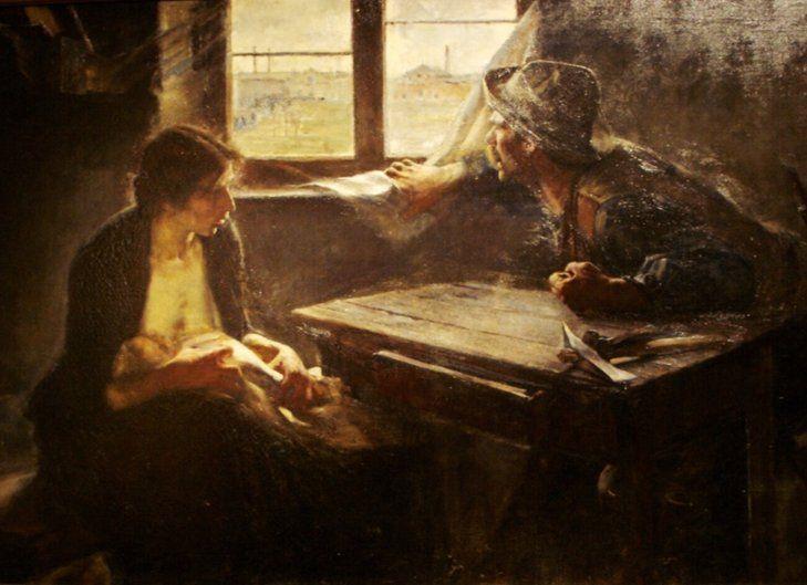 """Ernesto de la Carcova, pintor argentino, la obra se llama """"Sin pan y sin trabajo"""""""