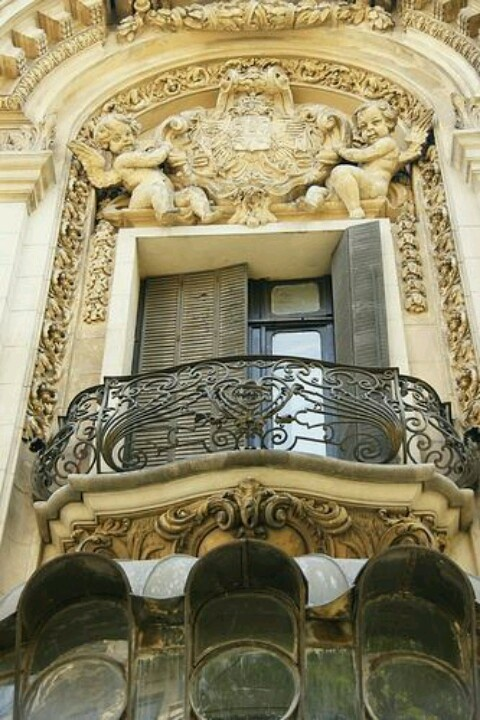 Art nouveau balcony at Bucharest Romania