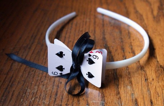 alice in wonderland playing cards | Alice in Wonderland Playing Card Headband by seamstrocity on Etsy