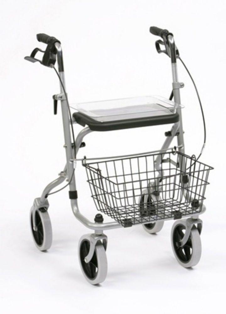 Andador de Acero MIGO con Cesta y Bandeja | Andadores para Adultos
