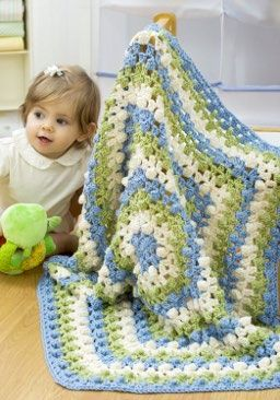 Hexagon Baby Blanket Crochet Pattern | Red Heart