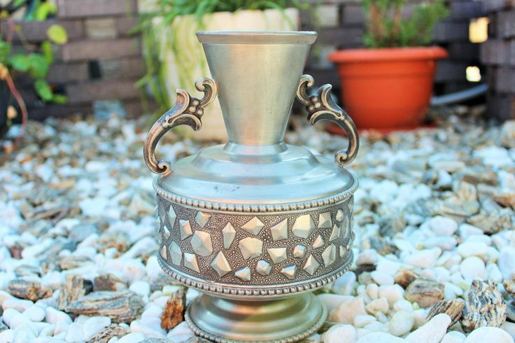 Vintage Norwegian SAVO Pewter Handled Amphora Vase, 2 Handles Metal Vase Scandinavian Viking Decor by Grandchildattic on Etsy