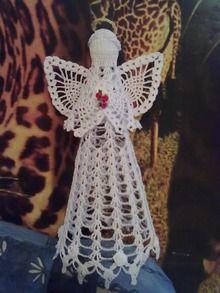 Вязание кофточек для девочек крючком   Рождествнские подарки ангел вязание ...