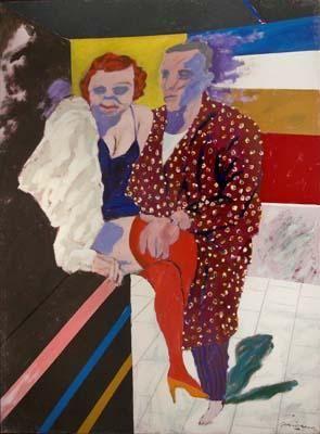 Thriller gardeliano II (1992) de #Gorriarena el artista de hoy #arte