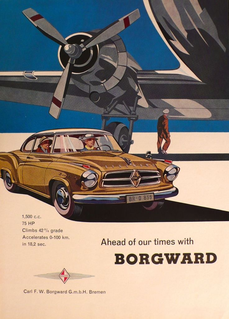 1959 Borgward Isabella Coupe - Vintage German Car.