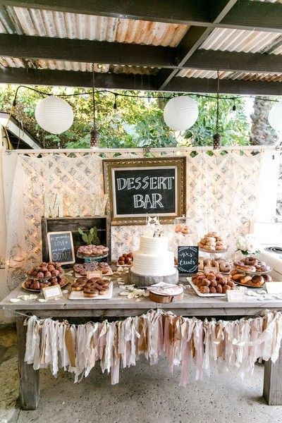 A donut and dessert bar - chalkboard details {Leah Marie Photography}