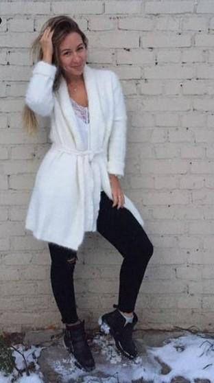 Woman genuine mink cashmere sweater women cashmere cardigan