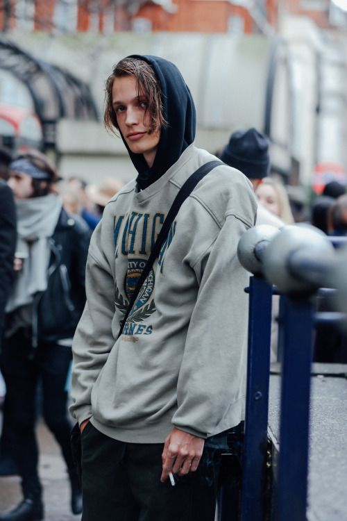 """billy-george: """" Hooded Spotted at London Collection Mens Photo by Dan Roberts """""""