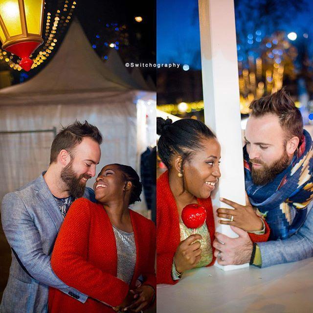 Beautiful interracial couple engagement photography #love #wmbw #bwwm
