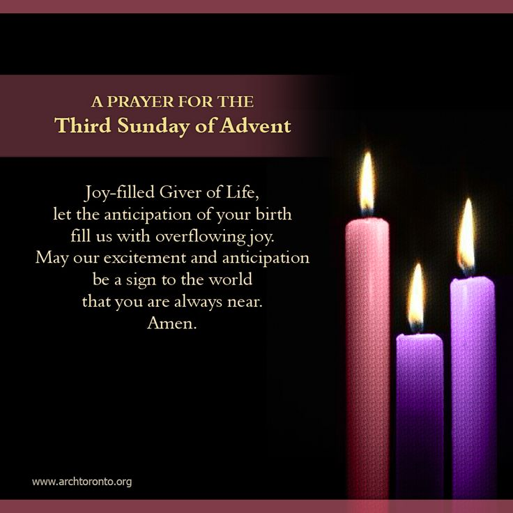 Prayer for the third sunday of advent for Pinterest advent