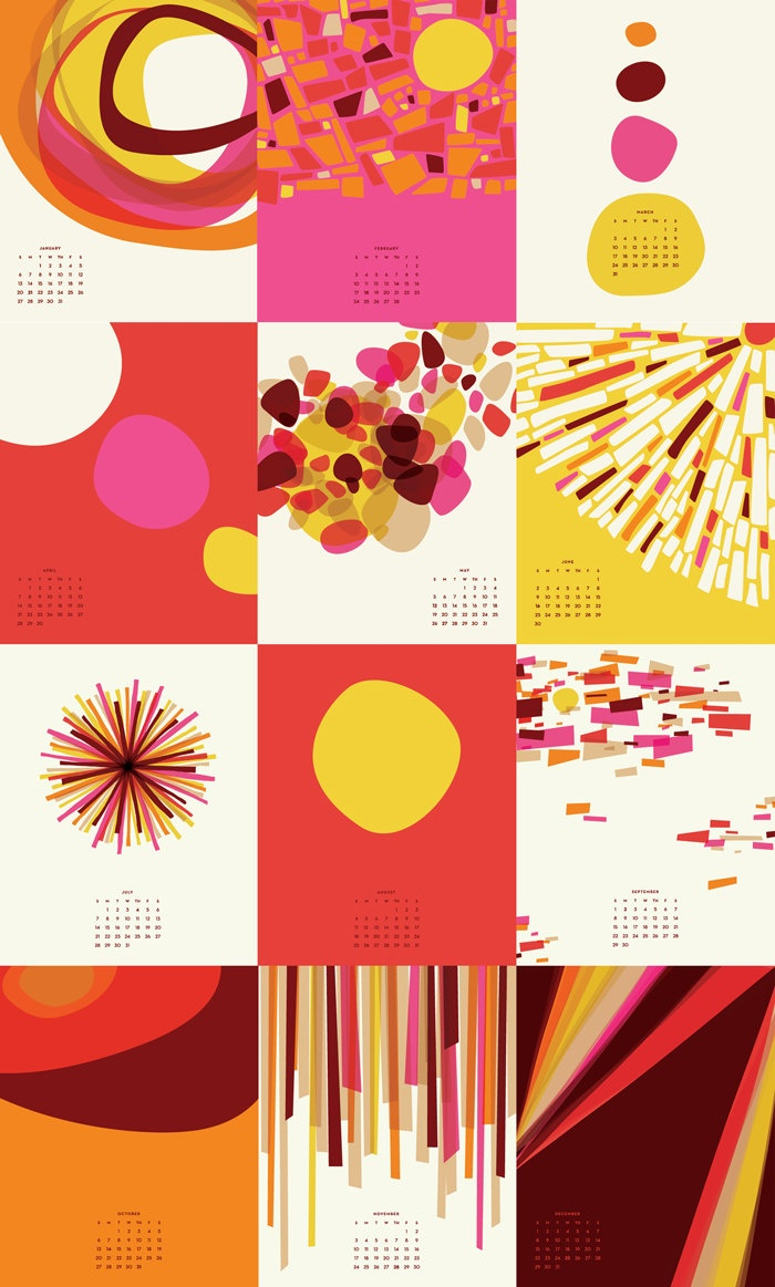 365 Days of Sunshine 2013 Calendar by Little Things Studio. $16.00, via Etsy.
