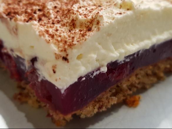 Gewitterkuchen Vom Blech Nuss Kirsch Kuchen Mit Sahnehaube Rezept Thermomix Rezepte Kuchen Thermomix Kuchen Kuchen