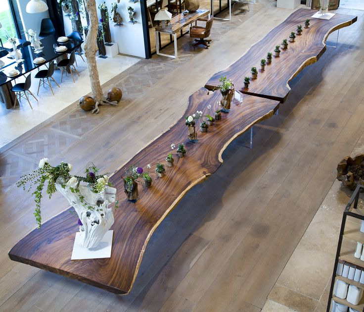 SDA Decoration Monumental Acacia Wood Table. Entirely Made Out Of One Solid  Piece Of Wood, The Acacia Tables Are Offered In 2, 3, 4 And 5 Meters Leu2026