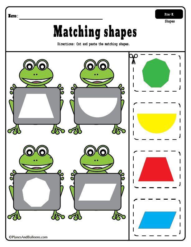 Pin On Preschool Math Activities Preschool shape cutting worksheets