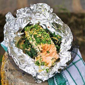 17 oktober - zalmfilet in de bonus - Recept - Zalm met spinazie en papillotte - Allerhande