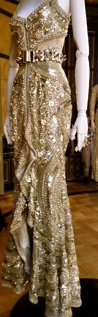 Givenchy, luxe gold fabric draping. FAB-U-LOUS