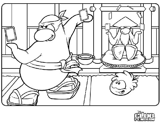 65 best Club Penguin Coloring Pages Ninja images on Pinterest | Club ...