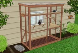 Do you want to build a catio? Or hire a carpenter to build a catio plan for you? Catio Spaces offers several attractive DIY catio designs to complement your home and suit your feline's fancy. Take the guesswork out of building a catio! Save time and money. Order your Catio Spaces DIY Catio Plan today.