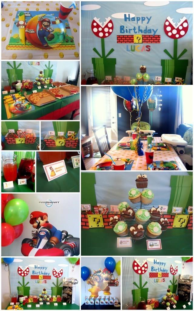 Super mario decor birthday party mario themed for Mario decorations