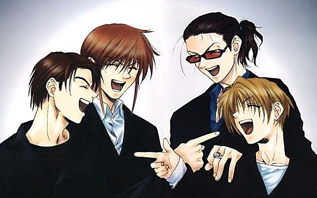 Weiss Kreuz ~~~ Fanart wherein Aya is actually laughing? Um, wait....