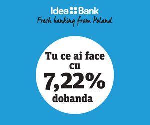 Alege creditul Idea-Bank pana cel tarziu pe 31.10.2015 si vei fi rasplatit cu 10% reducere aplicata marjei de dobanda standard, altfel spus in loc de ROBOR la 3 luni + 6,9% vei plati doar incepand de la ROBOR la 3 luni + 6,2% (dobanda de la 7,52%, DAE 8,32%).