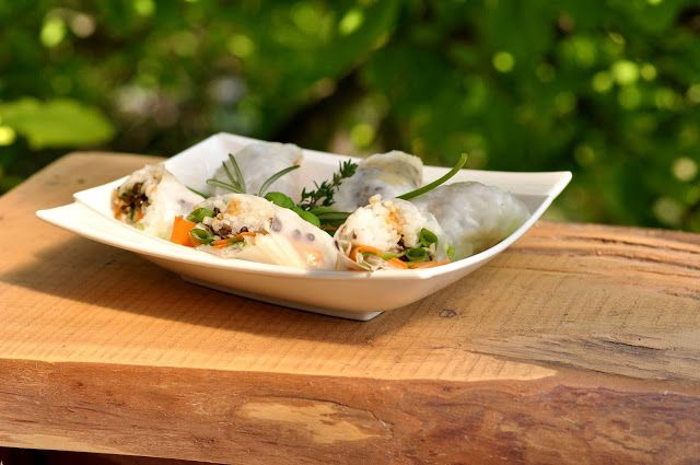 VegeGuláš: Jarné rolky plnené belugou, ryžou a zeleninou