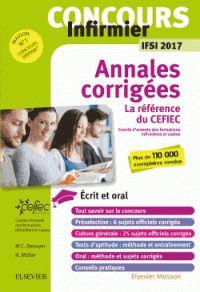 CEFIEC et Nicolas Muller - Concours infirmier IFSI - Annales corrigées.