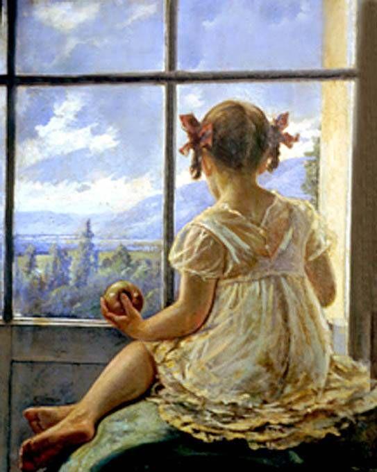 Arte en el Colegio Mayor del Rosario: Ricardo Gómez Campuzano. Isabel en la ventana.