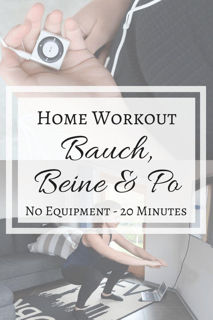 Home Workout Bauch, Beine & Po für Zuhause
