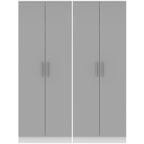 Swift Montreal Ready Assembled Tall 4 Door Wardrobe (37.660 RUB) ❤ liked on Polyvore featuring home, furniture, storage & shelves, armoires, storage shelf, drawer shelf, shelf furniture, storage furniture and drawer shelves