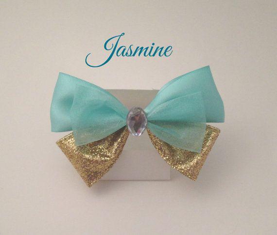 Princess Jasmine/Aladdin Bow by OnceUponABowShop on Etsy