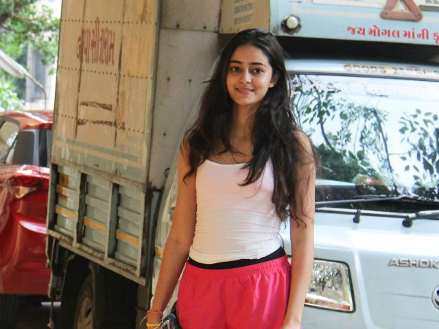 Ananya Pandey Is Certainly Turning into The Web's Favorite Ananya Pandey at Bandra in Mumbai. New Delhi:   Chunky Pandey's daughter Ananya was spotted in Bandra on Sunday, dressed in cute pink shorts paired with a subtle coloured tee. Not to be missed, were her pretty locks and an adorable smile. She looked cheerful while she posed for the picture. Ananya, 18, is the daughter of Chunky and Bhavna Pandey. She is the elder daughter while Rysa is the younger one. Ananya is close friends with…
