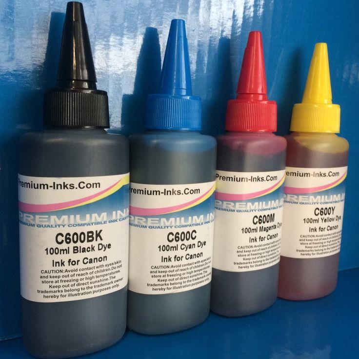 4x100ml Dye Refill Ink Canon Pixma Printers Non Oem