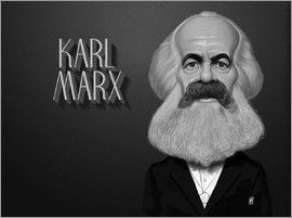 Rob Snow | caricatures - Karl Marx art | decor | wall art | inspiration | caricatures | home decor | idea | humor | gifts