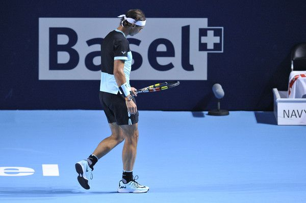 Rafael Nadal  ATP Swiss Indoor Basel - Day One The battle with Rosol was not easy as I'm sure he wanted to beat the great Spanish Bull once again. Thankfully, Rafa figured it out and came back several points in the third set breaker to WIN!!  Vamos ; )