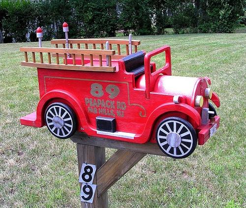 fire engine mailbox plans 1