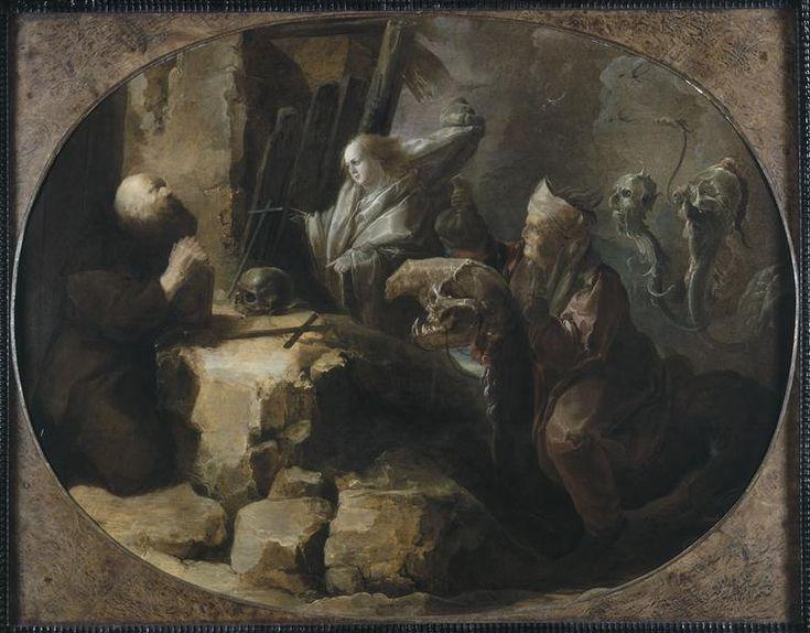 """""""Tentation de saint Antoine"""" (école de) d'Adriaen Pietersz Van de Venne (1589-1662). Dunkerque, musée des Beaux-Arts - Photo (C) RMN-Grand Palais / Agence Bulloz"""