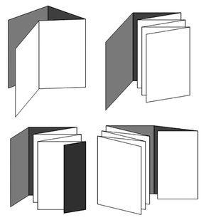 Materiales:              Para la encuadernación en acordeón utilizaremos diferentes cartulinas y papel...