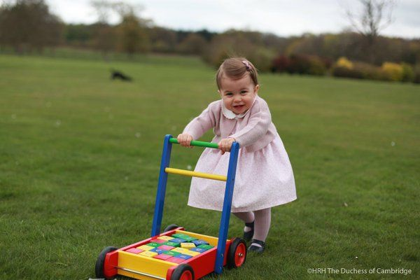 Princess Charlotte just before her 1st b-day