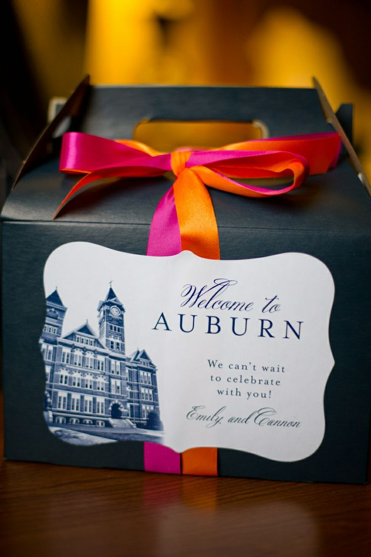 Welcome Boxes For Guests Featuring An Illustration Of The Ceremony Site Wedding Gift BagsWedding