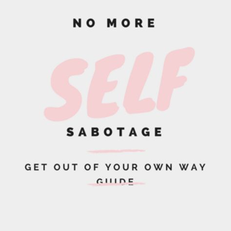 NO MORE SELF SABOTAGE!!  FREE GUIDE to help you GET OUT OF YOUR OWN WAY  Also included is my FREE Daily Affirmation Guide to help you RISE to your BEST LIFE  https://s.privy.com/MvL6nnM