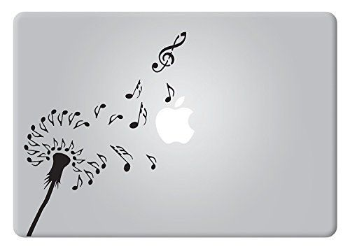 Dandelion music note macbook decal vinyl sticker apple mac air pro retina laptop sticker http