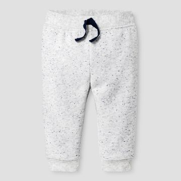 Baby Boys' Jogger - Baby Cat & Jack™ Gray w/ Blue Neps