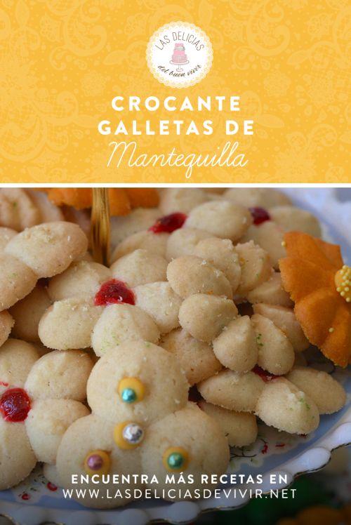 Deliciosas y crocantes galletas de mantequilla para hacer con manga