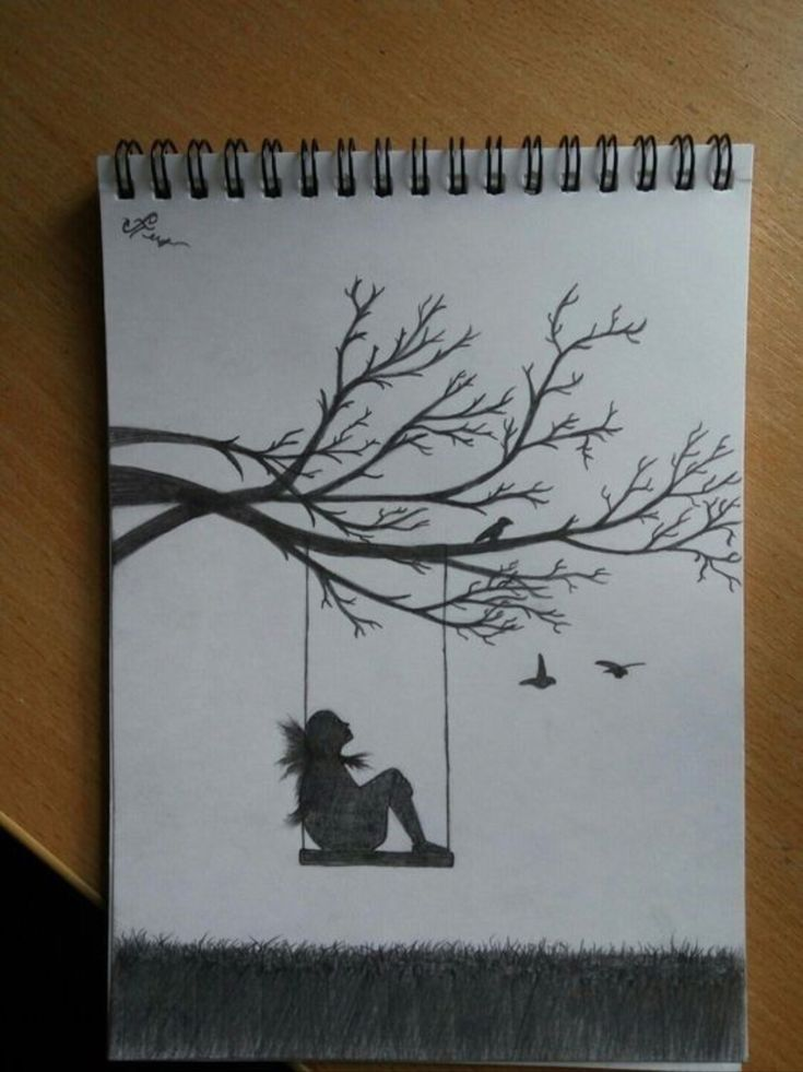 Рисунки для скетчбука депрессия