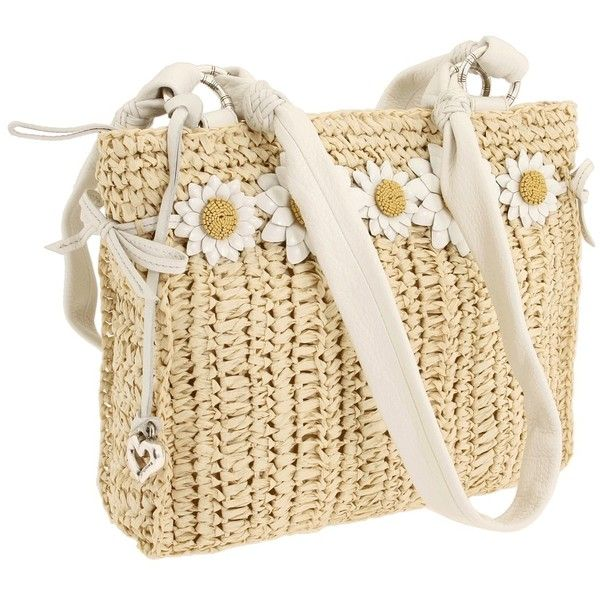 Brighton Daisy May Straw (1 610 SEK) ❤ liked on Polyvore featuring bags, handbags, shoulder bags, purses, accessories, borse, straw shoulder bag, handbags shoulder bags, brighton handbags and summer handbags