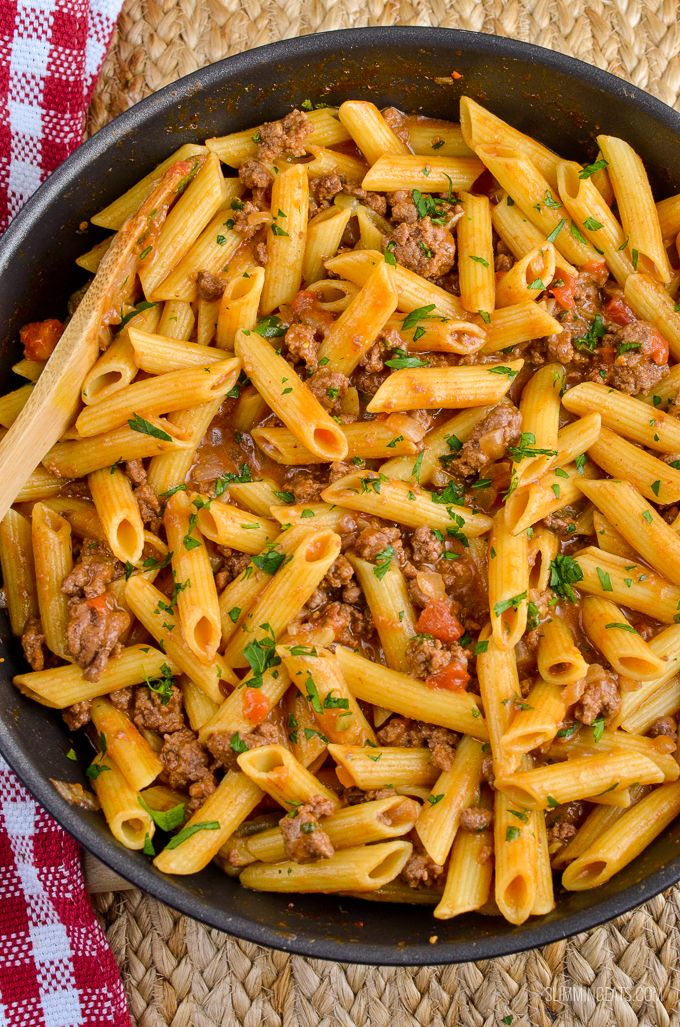 Slimming Eats Syn Free One Pot Cheeseburger Pasta - Slimming World and Weight Watchers friendly